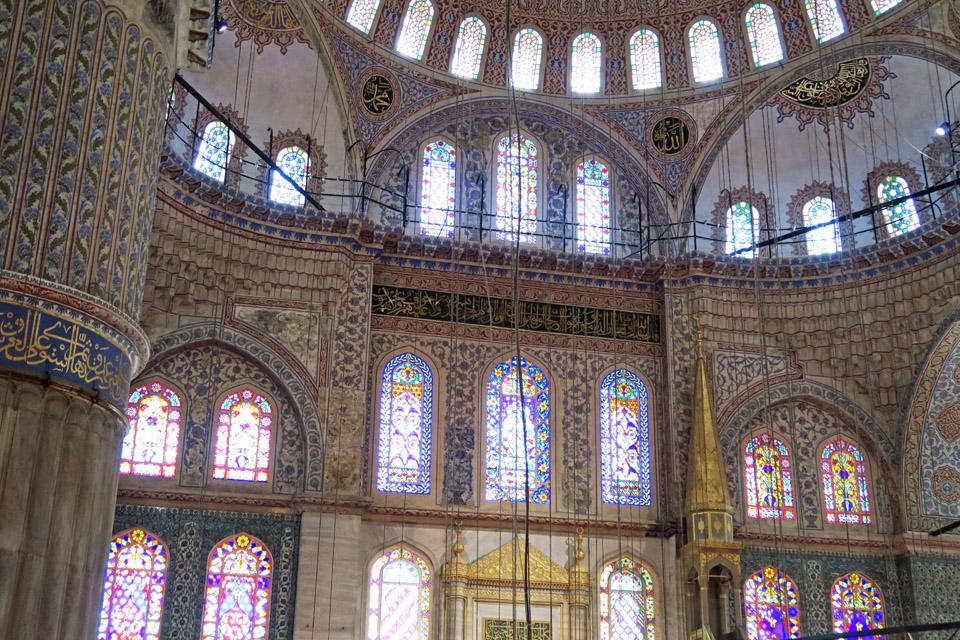 ブルー・モスクのステンドグラス