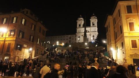 スペイン広場夜