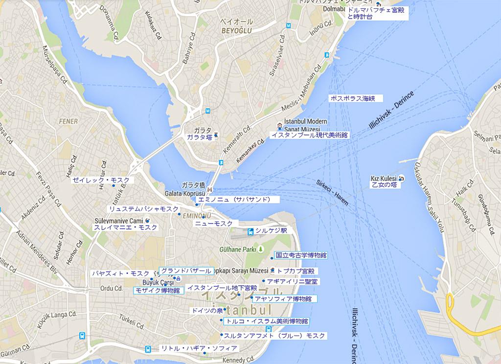 イスタンブール観光地図
