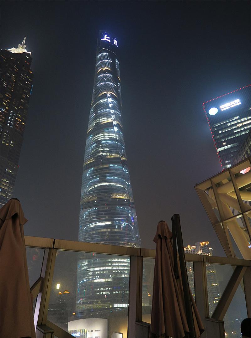 中国第一高楼レストランから